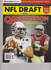 USA TODAY SPORTS MAGAZINE PRESENTS NFL FOOTBALL DRAFT 2015, QB QUESTION,NO LABEL