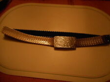 "Vintage 1970s 80s Ladies Silver Metallic Fish Scale Stretch Belt - 26"" - 40"" L"