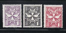 Malta - Scott #s J18-20  Postage Due