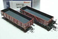 ROCO HO PKP 2teiliges Set 2achsiger O-Wagen braun 76281 NEU OVP