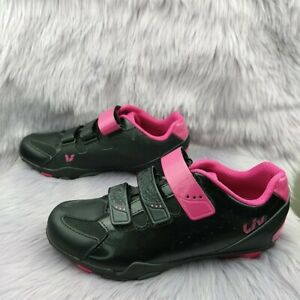 LIV FERA Off Road Indoor Cycling Shoes Women's Size 8.5 US Black/Fuchsia Pink