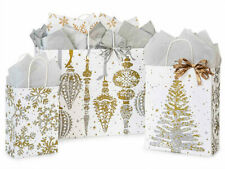 MERCURY GLASS Design Print Christmas Gift Bag ONLY Choose Size & Pack Amount