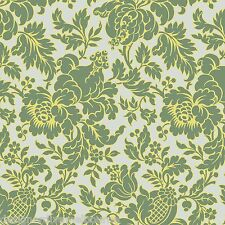Anna Griffin -Grace - Fortuny Damask green, cotton quilting fabric