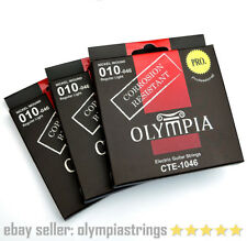 3 PACKS Olympia CTE-1046 Electric Guitar Strings Corrosion Resistant - Gauge 10