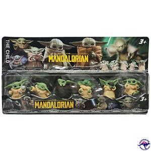 6 Box Set Baby Yoda The Mandalorian Star Wars Mini Figurine Set Pack AU STOCK
