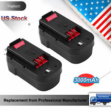2pcs 3.0Ah Replacement for 18V Black Decker Battery HPB18-OPE FSB18 Power Tools