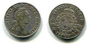 1/6 Rigsdaler Schweden 1777 Silber