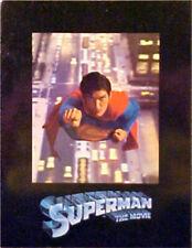 SUPERMAN THE MOVIE & SUPERMAN II & SUPERMAN IV - 3 packed uncut movie programs