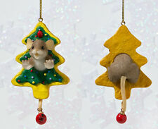 Charming Tails Mouse Have Fun Working Through The Holiday Sweetness ornament
