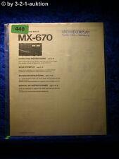 Sony Bedienungsanleitung MX 670 Mixer (#0440)