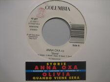 "ANNA OXA ""Storie"" OLIVIA - RARO 45 PROMO JB + STICK!!"