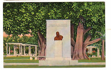1940's postcard - Roosevelt Memorial, Santiago, Cuba. Uss Bush Postmark