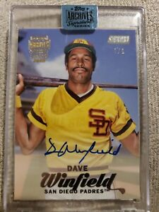 2018 Topps Archive Signature Series 1/1 Dave Winfield Stadium Club Padres