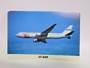 Postcard Airline Airport Scandinavian Airlines System Boeing 767 Print in Japan