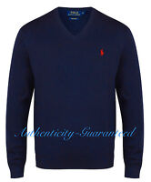 Ralph Lauren Men's V-Neck Pima Cotton Jumper Various Colours S-XXL RRP £110