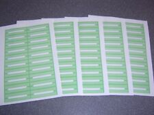 100 Blank Green Juke Box Labels Jukebox * Free S&H *