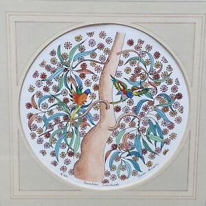 Rainbow Lorikeets; Limited Edition, Hand Coloured Art Print by Gwen Mason