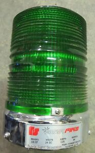 Federal Signal Model 131ST Star Fire Strobe Light, Green 24 DC