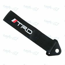 1X BLACK JDM TRD Racing Drift Rally Car Tow Towing Strap Belt Hook Universal