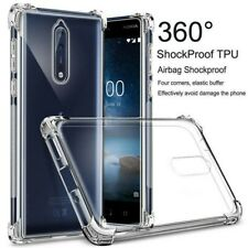 For Nokia 8 7 6 5.1 4.2 7.1 3.2 Crystal Clear Shockproof Case Rubber TPU Cover
