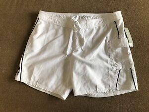 Hang Ten Women's Belize Quick Dry Board Swim Shorts Size 7 White