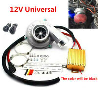 12V Universal Car Electric Turbo Supercharger Turbocharger Kit Air Filter Intake