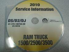 2010 DODGE RAM TRUCK 1500 2500 3500 Service Shop Repair Manual CD DVD NEW