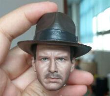 1/6 Solider Dr. Henry Indiana Jones Head Carving Sculpt Model Toys Regular Versi