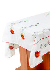 "Folk Ukrainian Decorative Embroidered Cotton Tablecloth 59""87"" (150*220см)"