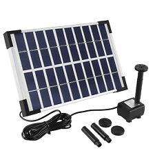 Solar Bomba Estanque Bomba de Corriente 5W Solar Fuente Pozo Jardín Juego Agua