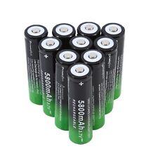 10Pcs Rechargeable 18650 Batteries 5800mAh 3.7V Rechargeable Batteries AUMU