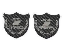 3D TRD Carbon Fiber Car Front Body Trunk Rear Side Badge Emblem Sticker X2