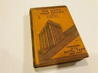 Vintage HOTEL TAFT Book THE LIGHT THAT FAILED by Rudyard Kipling