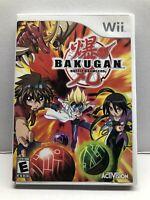 Nintendo Wii - Bakugan Battle Brawlers Game - Complete Tested Working Free Ship