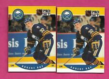 2 X 1990-91 PRO SET # 419 SABRES ROB RAY  ROOKIE  CARD (INV# A9074)