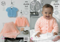 4d3670db2864 King Cole Baby Cardigans Big Value Knitting Pattern 2980 4 Ply