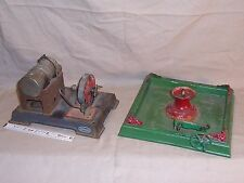 Antique Live Steam Tin Toy Water Fountain Pump and Steam Engine Vintage