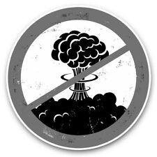 2 X Pegatinas De Vinilo 25cm (BW) - sin guerra atómica Bomb paz en la tierra #40522
