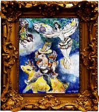 MARC CHAGALL ORIGINAL EROTIC SIGNED GOUACHE PAINTING DANS LES NUAGES ARTWORK