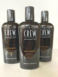 *3-Pack* American Crew Gray Shampoo For Gray Hair & Maintenance 8.4 Oz