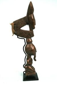 Art Africain Ethnographique - Marteau de Gong Baoulé - Socle sur Mesure - 25 Cms