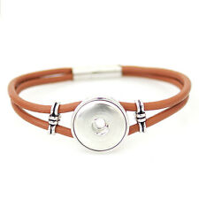 Snap-It Magnetic Clasp Bracelet For Ginger Snap Style Button Charm
