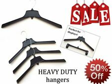 "Black Clothes ""Heavy Duty"" Hangers 17""  Qty of 100 *SALE* 50% OFF"