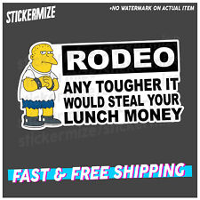 RODEO ANY TOUGHER Sticker Decal 4x4 4WD Car Ute Mud