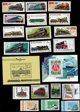 21x Eisenbahn Lokomotiven Russland (UdSSR) postfrisch **   (1)