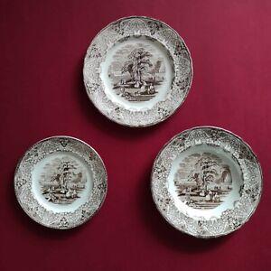 Antichi piatti Richard con decoro in stile inglese Landsae • 1873-1890 ca.