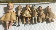 New Listing6 Small Antique Small Baby Dolls Original Clothes Bisque Porcelain 1-celluloid