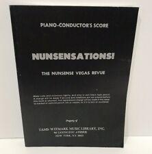 NUNSENSATIONS Nunsense Las Vegas Revue PIANO CONDUCTOR'S SCORE music Dan Goggin