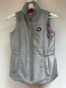New superb Abercrombie kids grey puffer vest top girls size 13/14 size L €88