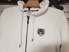 KENZO Mini Tiger Women Cotton Hoodie Jacket White Authentic Sz M